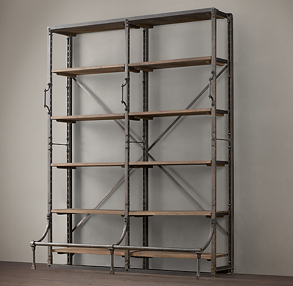 "72"" French Library Shelving"