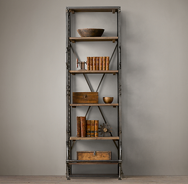 "30"" French Library Shelving"