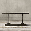 "68"" 19th C. French Zinc and Cast Iron Console"