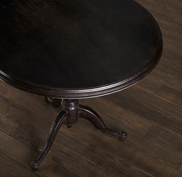 18th C. French Tilt-Top Brasserie Side Table