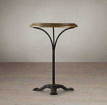 Circa 1900 French Brass Brasserie Table