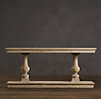 "78"" 15th C. Dual-Baluster Oak Console"