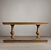 15th C. Dual-Baluster Oak Console