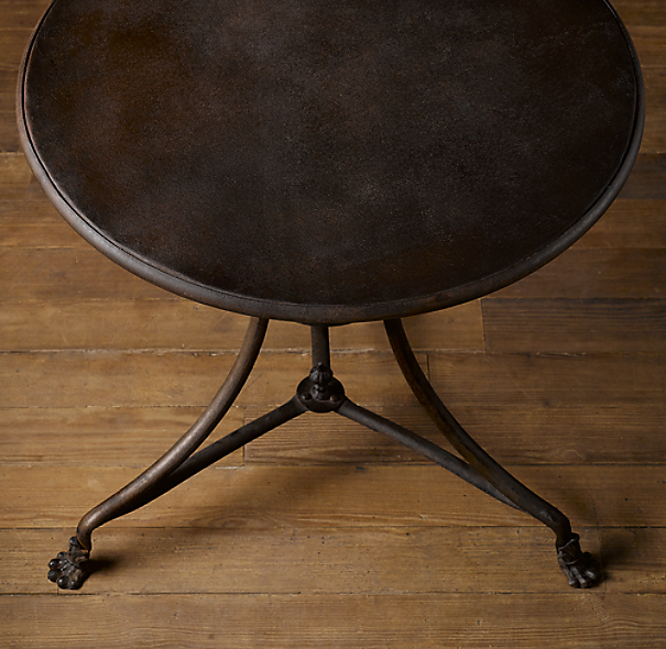 "32"" 19th C. French Lion's Foot Brasserie Table"