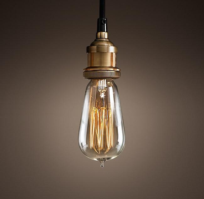 Bare Bulb Filament Pendant