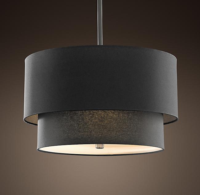 BLACK FLORAL 2 TIER PENDANT CELING LIGHT SHADE   eBay