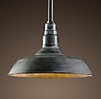 Vintage Barn Pendant Weathered Zinc