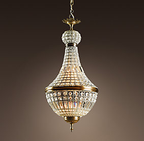 19th Century French Empire Crystal Chandelier, $1595
