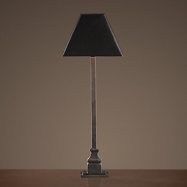 19th C London Railing Table Lamp