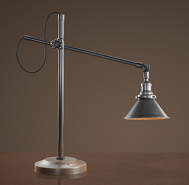 1900s Machinist Task Accent Lamp