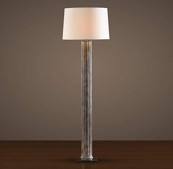 19th C. Zinc Column Floor Lamp