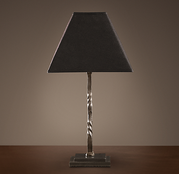 Iron Railing Twist Table Lamp
