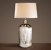 19th C. Vintage Mercury Glass Tall Table Lamp
