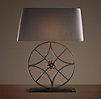 Iron Florette Wheel Table Lamp