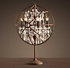 Foucault's Iron Orb Crystal Table Lamp Rustic Iron