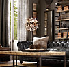 Foucault's Iron Orb Crystal Floor Lamp Rustic Iron