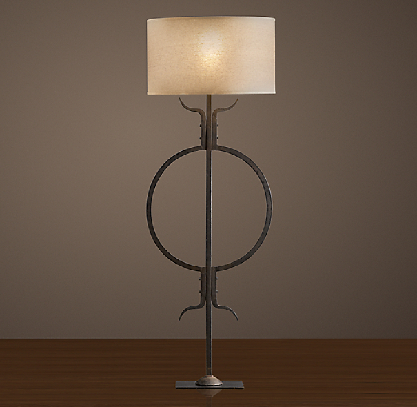 Belgian Lightning-Rod Artifact Floor Lamp