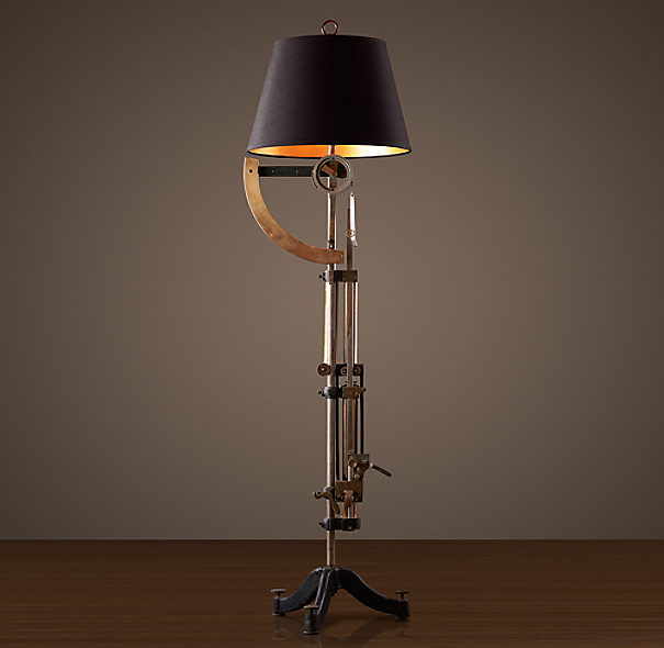 Circa 1900 Textile-Scale Floor Lamp