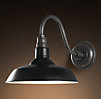 Vintage Barn Sconce Black
