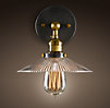 Ribbed Glass Filament Sconce Aged Steel