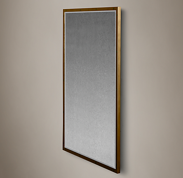 Bistro Antiqued Brass Mirrors