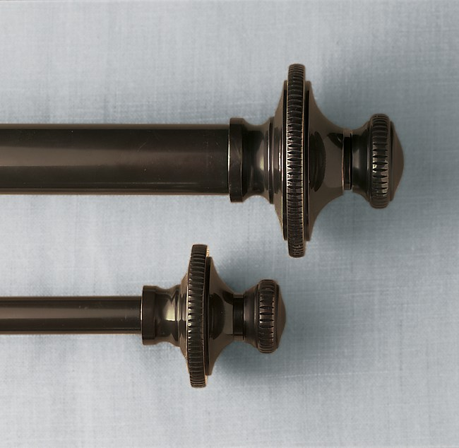 Bronze Knurled Finial & Rod Set