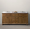 French Empire Double Vanity Sink