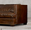 "8"" Easton Leather Sofa"