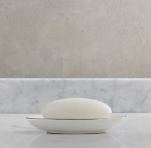 Le Bain French Porcelain Soap Dish