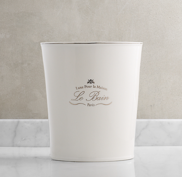 Le Bain French Porcelain Waste Can
