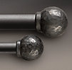 Industrial Hand-Forged Faceted Ball Finial (Set of 2)