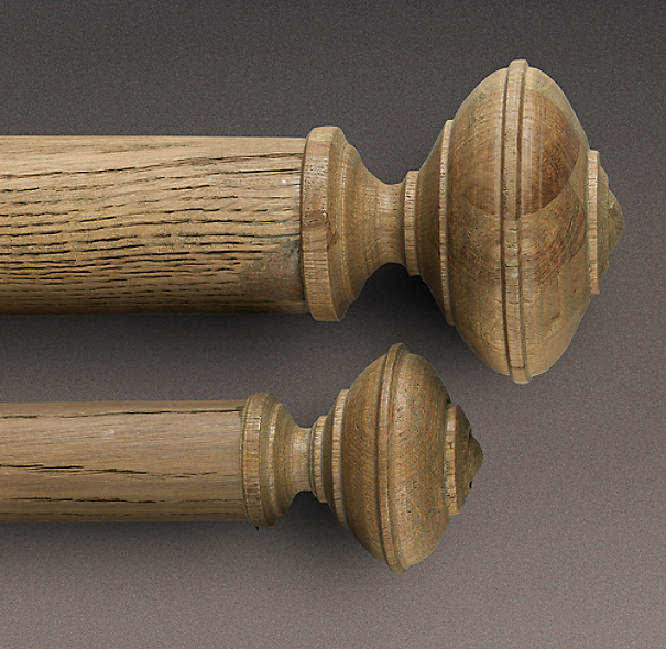 Estate Weathered Oak Trenton Finial Weathered Oak