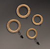 Estate Weathered Oak Drapery Rings (Set of 7) Weathered Oak