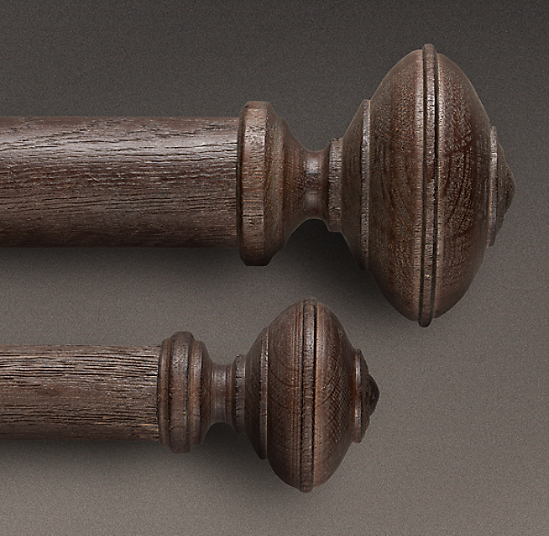 Estate Weathered Oak Trenton Finial Brown Oak