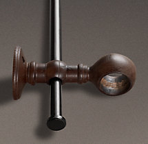 Estate Weathered Oak Double-Rod Conversion Kit Brown Oak