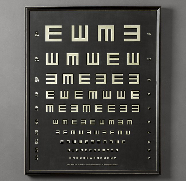 Vintage Eye Charts:  Tumbling E