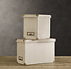 Linen Desktop File Box Sand