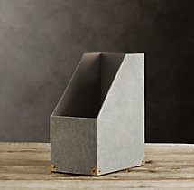Linen Magazine Box Fog