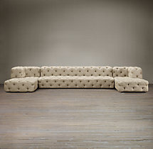 Soho Tufted Upholstered U-Chaise Sectional
