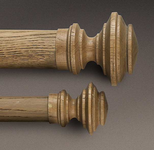 Estate Weathered Oak Newel Finial Weathered Oak