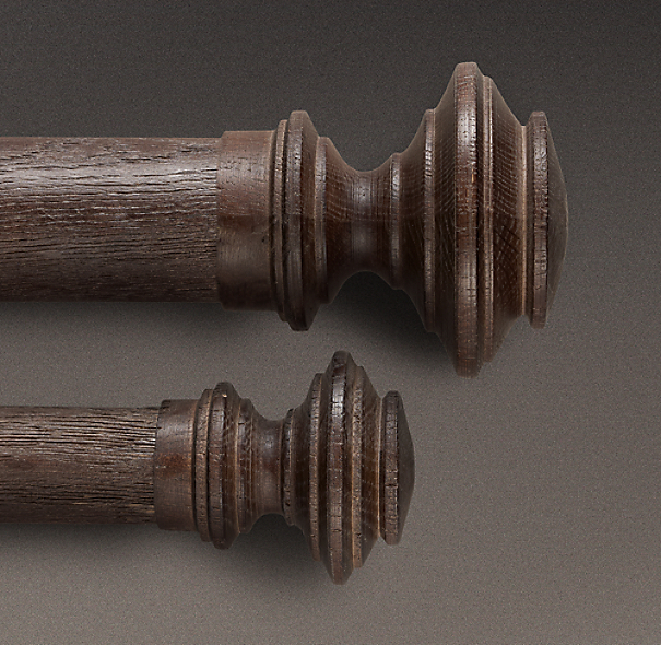 Estate Weathered Oak Newel Finial Brown Oak