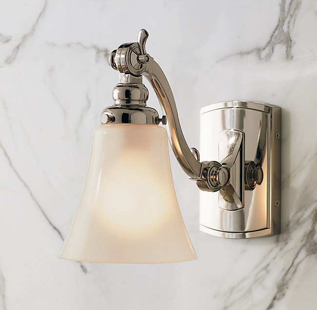 Bathroom renovation and light decogirl montreal home Restoration hardware bathroom sconces