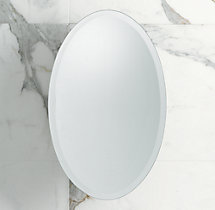 Frameless Oval Pivot Mirror