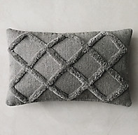 Diamante Flatweave Pillow Cover - Lumbar
