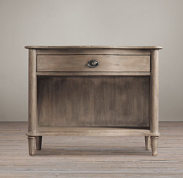 "38"" Empire Rosette Open Nightstand"