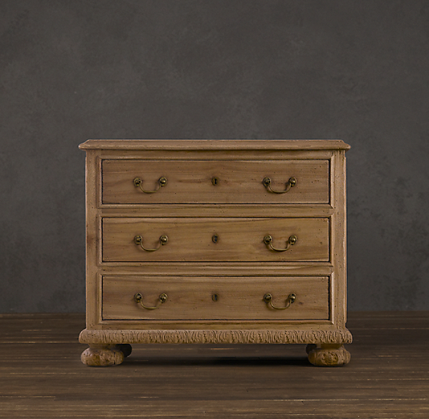 French Empire Closed Nightstand Sandblasted