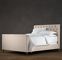 Chesterfield Upholstered Panel Bed