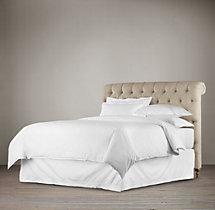 Chesterfield Upholstered Sleigh Headboard