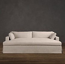 Belgian Track Arm Slipcovered Daybed Sofa