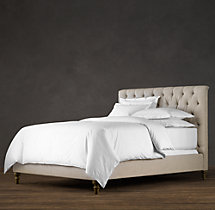 Chesterfield Upholstered Bed Without Footboard